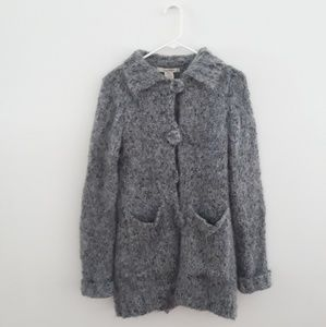 Free People Chunky Long Gray Cardigan Sweater